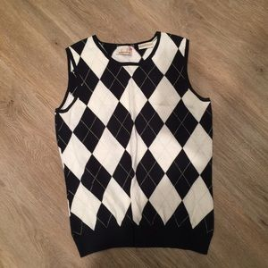 Golf sweater vest argyle print